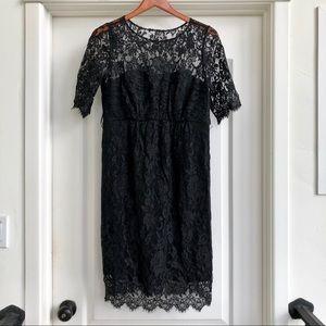 EUC Seraphine Luxury Black Lace Maternity Dress 8